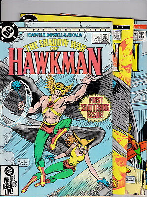 The Shadow War of HAWKMAN set - Issues #1 to #4 (1985) Near Mint.
