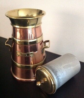 Arts & Crafts Copper And Brass Twin Handled Tea Caddy