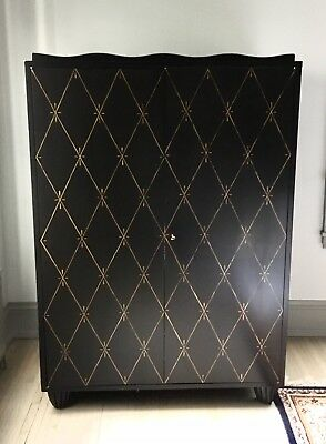 Barbara Barry for Baker Black Hollywood Regency Entertainment Cabinet Armoire