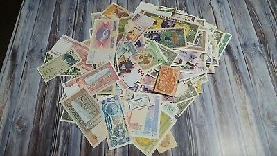 Lot Of 10 Different Foreign World Paper Money - Various Dates & Denominations