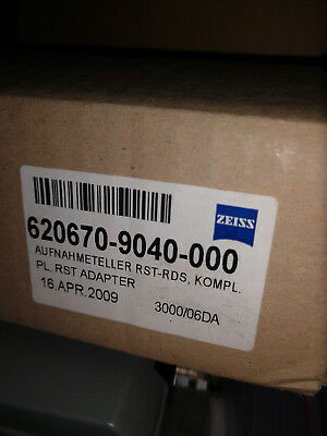 Zeiss RDS RST Adapter Plate P/N 620670-9040-000  ** Last One! **