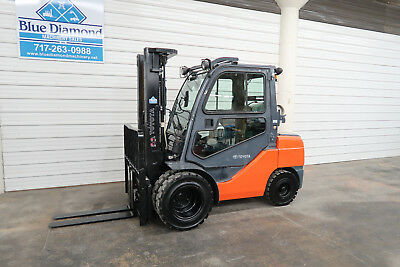 2013' Toyota 8FGU32, 6,500# Pneumatic Tire Forklift, LP Gas, 3 Stage, Sideshift