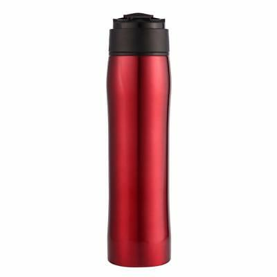 Self-lock Portable French Press Bottle Thermal Water Bottle Kitchen Stainless