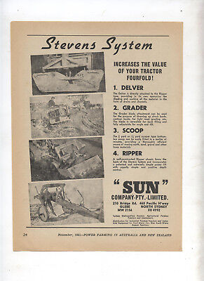 Stevens Farm System Advertisement removed from 1951 Farming Magazine Tractor
