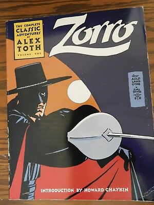 Complete Classic Adventures by Alex Toth: Zorro 1988 Volume One First Printing