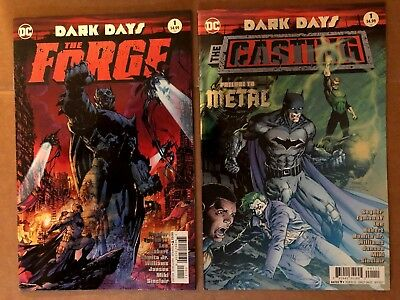 DARK DAYS The Forge + CASTING 1 FOIL STAMP 1st PRINTS   METAL TIE IN DC 2017 NM+