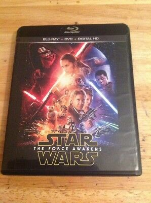 Star Wars: The Force Awakens (Blu-ray/DVD, 2016)Authentic Disney US RELEASE