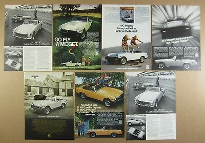 MG Midget LOT OF 7 vintage print Ads advertising