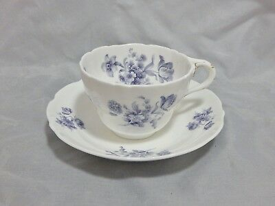 Coalport England Divinity Blue Large Breakfast Cup and Saucer