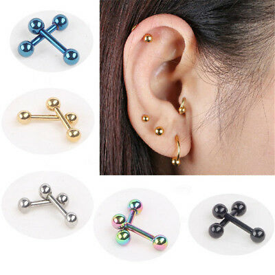 Lip Tragus Nose Ear Stud Stainless Steel Cartilage Helix Labret Piercing Bar