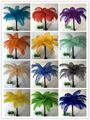 10-100pcs 16 colors ostrich feathers 6-30inch/15-75cm carnival Diy costume mask
