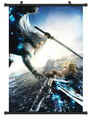 Poster Anime Final Fantasy Vii  tifa lockhart Room Decor Wall Scroll 60*90cm