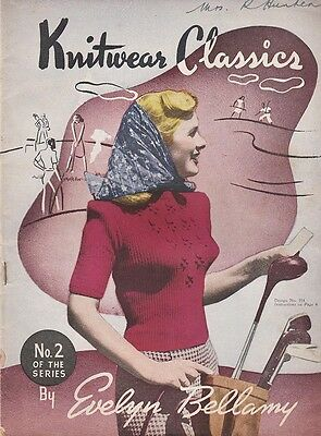 1940s VINTAGE KNITWEAR CLASSICS No.2 FAMILY KNITTING BOOK 12 Patterns