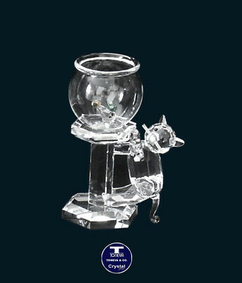 "[SPECIAL OFFER] ""The Hungry Cat"" Austrian Crystal Figurine was AU$88.00"