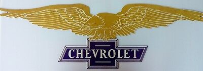 CHEVROLET EAGLE WINGS 905 X 280 ALL WEATHER AGED LOOK Metal tin Sign