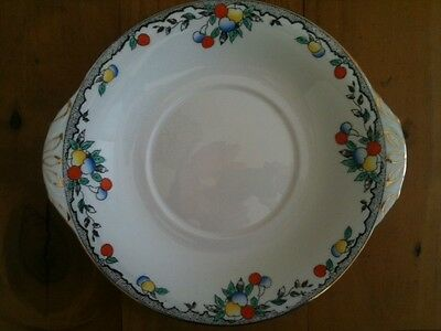 "ADDERLEY MADE IN ENGLAND FRUIT MOTIF HANDLED PLATE 8 3/4"" = 220mm LENGTH"