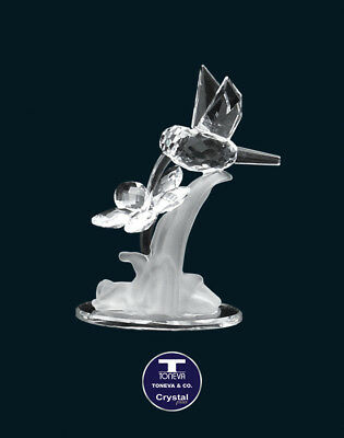 "[SPECIAL OFFER] ""Humming Bird & Flower"" Austrian Crystal Figurine was AU$72.00"