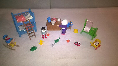 Playmobil 5311 kinderzimmer set aus 1990 nostalgie rosa for Kinderzimmer playmobil