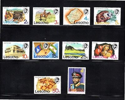 Lesotho 1976 pictorial issue of 10 SG 300/9 MH