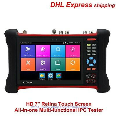 """X7 Series HD 7"""" 4K 8MP All-in-One Multi-functional IPC Tester CCTV Monitor H.265"""