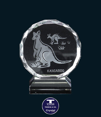 "[SPECIAL OFFER] ""Kangaroo"" Austrian Crystal Figurine/Paperweight was AU$51.00"