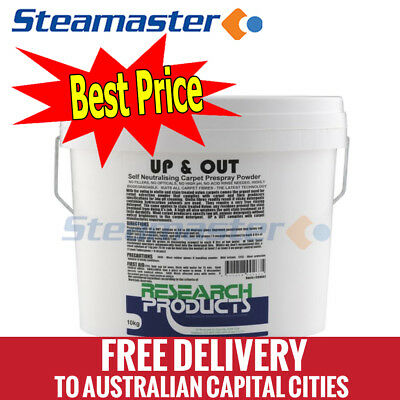 Research Products Up & Out Carpet Cleaning Chemical Pre-Spray Powder 10KG kit