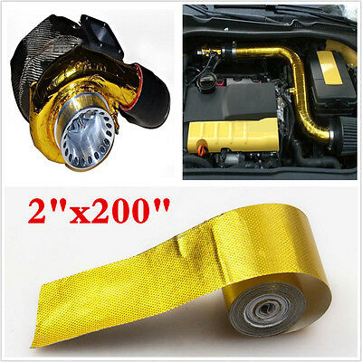 5m X High Quality Reflective Gold High Temperature Heat Shield Wrap Tape 1200°f