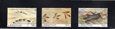 Lesotho 1984 Prehistoric Footprints (2nd issue) SG 596/8 Used