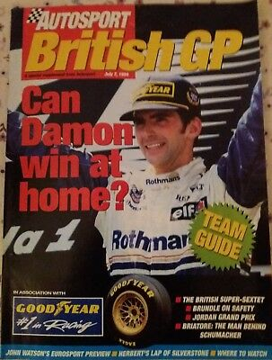 1994 British GP preview - An Autosport supplement. 63 pages