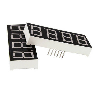 7 Segment Anzeige   4-stellig   4 Digit Display   Rot   12 Pin   Common Anode