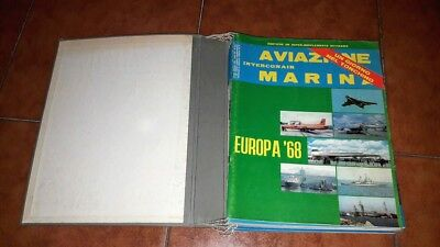 Rivista Aviazione And Marina Interconair 1968 Year's Issues Completa With Binder
