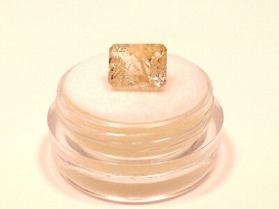 Sale Unique Golden Rutilated Quartz new in case from private collection Gift