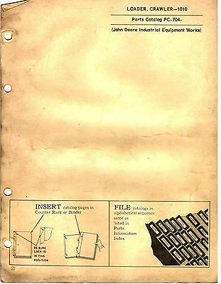 John Deere Loader (Crawler) 1010 Parts Catalogue 1962 8220E