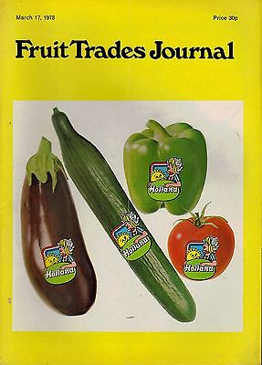 1978 17 MAR 54317 Fruit Trades Journal Magazine  FIRST CAPE APPLES ARIVE