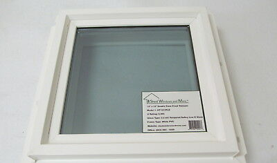 "Square Window 12"" x 12"" Double Pane Tempered Low E Glass PVC Frame"