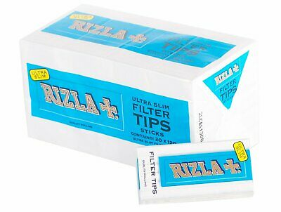 2400 filtri Rizla ultra slim da 5,7 mm filtrini in stick da 20 mm sigarette -