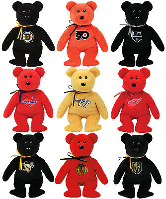 New Nhl Collectible Ty Beanie Baby Bear With Tags Intact Select Your Team eef688fa0