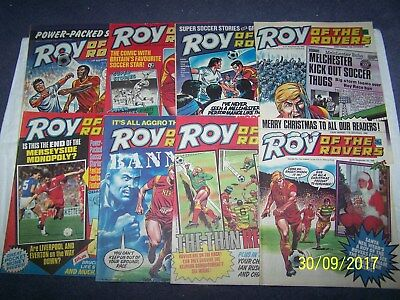 8 Roy of the Rovers Comics 8/11 15/11 22/11, 29/11, 6/12, 13/12, 20/12, 27/12/86