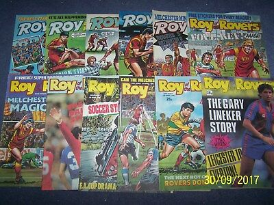 12 Roy of the Rovers Comics 2, 9, 16, 23, 30/1, 13, 20, 27/2, 5, 12, 19, 26/3/88