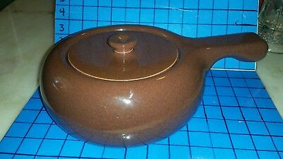 Russel Wright Steubenville Covered Soup Vegetable Casserole Serving Dish Brown