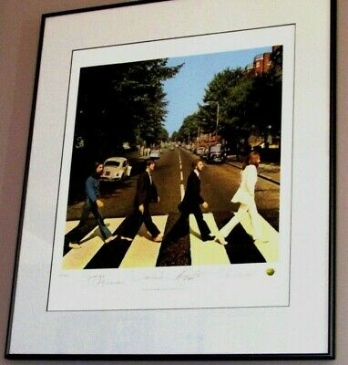 "Beatles ""ABBEY ROAD"" Display Numbered w/Autographs Direct from the R&R HOF"