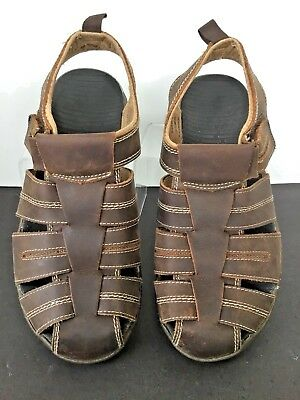 c33d2e6e961c Bass Mens 7M Shoes Fisherman Sandals Brown Leather Closed Toe Casual Resort