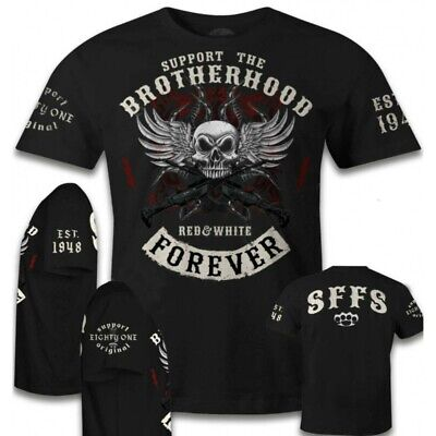 43 Hells Angels T-shirt Brotherhood Special Support 81 your local Red and White