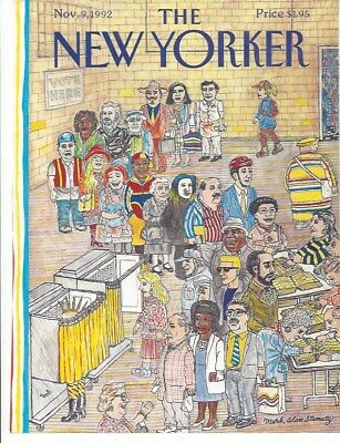 COVER ONLY ~ The New Yorker magazine ~ November 9 1992 ~ STAMATY ~ Voting