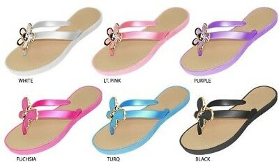 Wholesale Lot New 36 prs Girls PCU Sandals W/ Assorted Ornaments And  PU Footbed