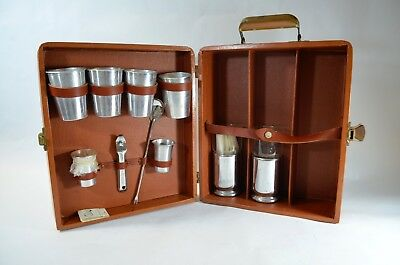 Vintage Mid Century Modern Travel Bar Portable Hard Case