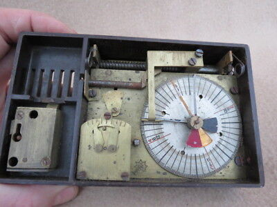 Vintage Bakelite Cased Night Watchmans Clock For Spares.
