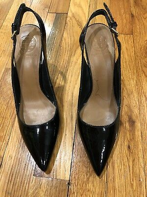 a8272bc91 NWOB TORY BURCH Black Pointy Sling Back Heels Shoes Sz 7 -  99.00 ...