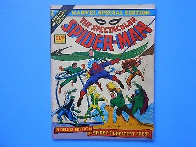Marvel Special Treasury Edition #1 The Spectacular Spider-Man 1975 Bronze Age