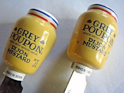 2 Grey Poupon Mustard Ceramic Spreaders Promotion